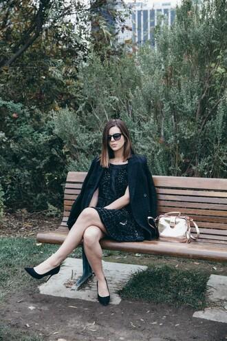 take aim blogger bag black dress metallic