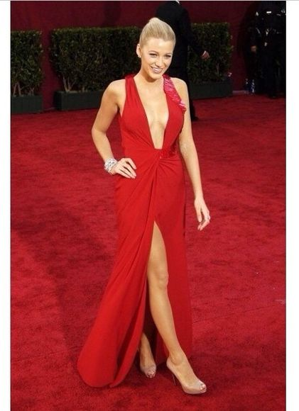 blake lively prom dress dress fashion tumblr gossip girl long prom dresses red dress red prom dresses 2014 prom dresses blonde hair asmaiscool a beautiful heart love more dance in my closet a fashion love affair from brussels with love love you duh red carpet dress