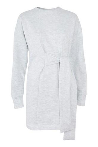 top oversized grey