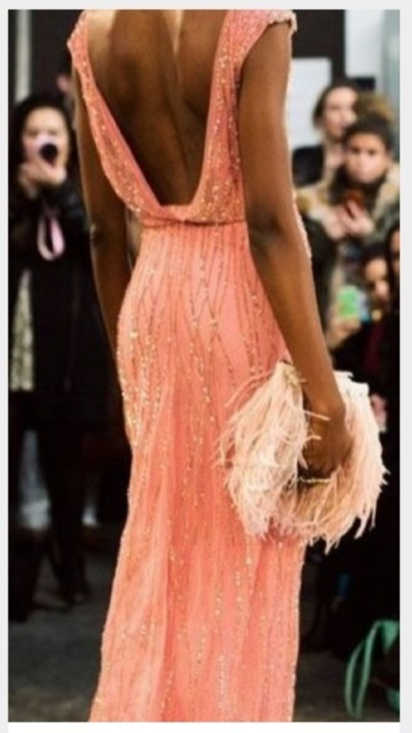 dress prom backless gown prom dress cap sleeves maxi dress long embellished long prom dress gold sequins long bridesmaid dress jenny packham salmon dresses open back long dress elegant dress coral gown jenny packham coral