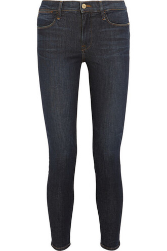 jeans skinny jeans denim high dark