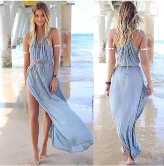 dress boho dress bohemian dress blue dress summer dress beach dress fashion party outfits party dress maxi dress