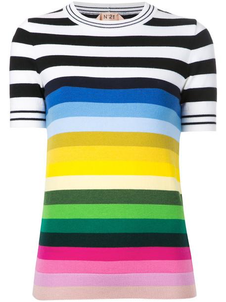 No21 top striped top women wool