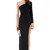 Black One Shoulder Long Sleeve Split Dress - Sheinside.com