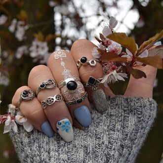jewels cherry diva knuckle ring ring silver silver ring silver jewelry boho jewelry sterling silver rings