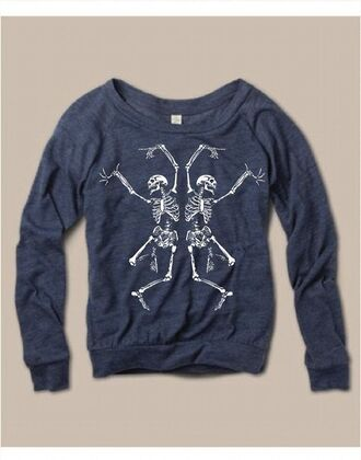 t-shirt pullover bones alternative skeleton halloween