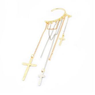 rock cross cuff earrings jewels