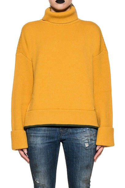 Dsquared2 pullover wool yellow sweater