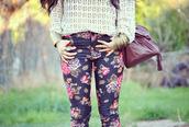 pants,blogger,vintage,boho,shorts,flowers,clothes