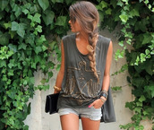 t-shirt,aztec,tank top,large,eagle,shoes,fringes,sandals,black sandals,gladiators,blouse,shorts,bag,jewelry,lovely,cute outfits,shirt,grey tank top,gold,pretty,model,summer,sunglasses,black,cut-out,flat sandals,top,cool,graphic tee,boho shoes,boho,hipster,grunge,tumblr,outfit,trendy,style,grey,boho top,beeded,grey top,summer shirt,army tee,army tank,summer top,eagle tank,summer outfits,boho chic,military style,army green,sexy military