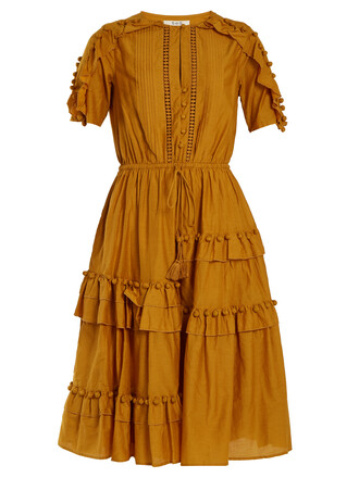 dress cotton silk yellow