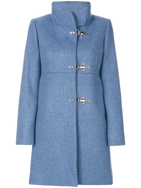 FAY coat women blue wool