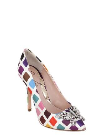 pumps silk satin multicolor shoes