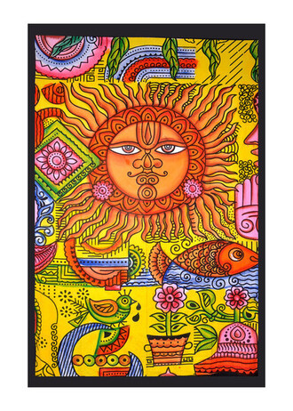 home accessory sun tapestry sun sun of god indian goddess tapestry wall hanging holiday gift cheap gift