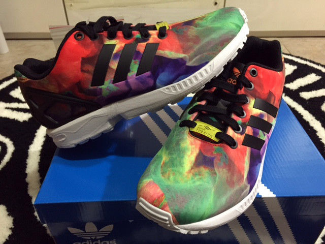 Adidas zx flux multicolor floral fruity art women sz 6