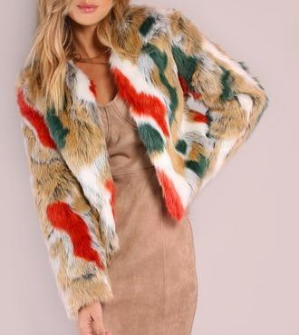 coat girl girly girly wishlist colorful fur fur coat