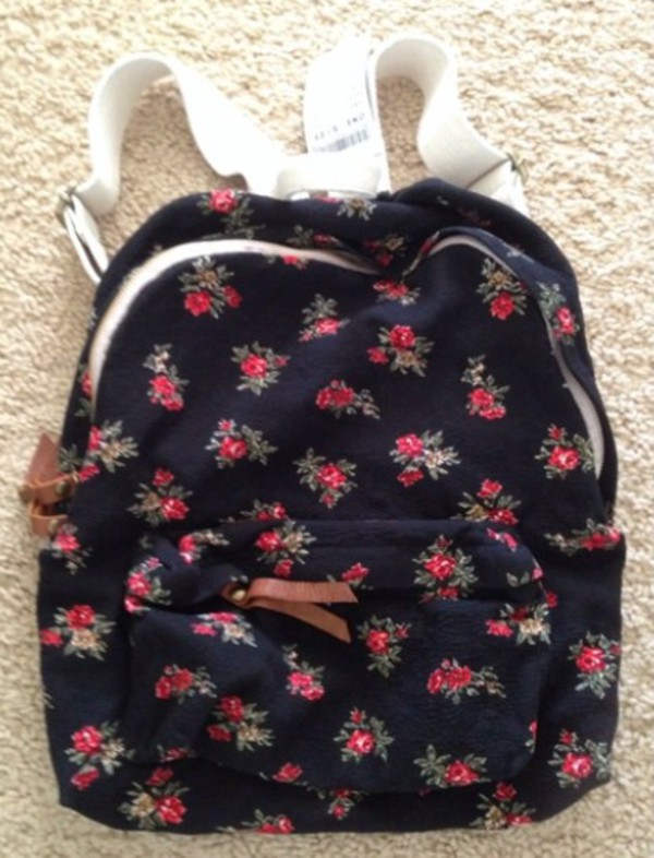 bag brandy melville? backpack floral floral backpack