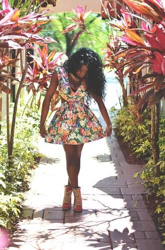 dress roses floral dress