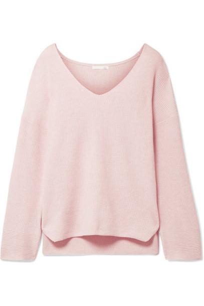sweater pastel cotton pink pastel pink