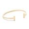 Shashi teagen cuff bracelet - gold
