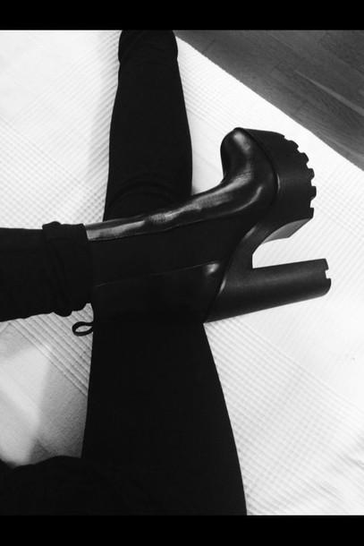 shoes high heels fashion black heels