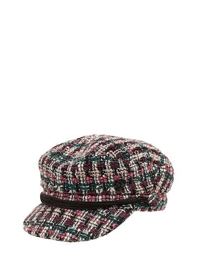 MAISON MICHEL New Abby Tweed Hat Multicolor