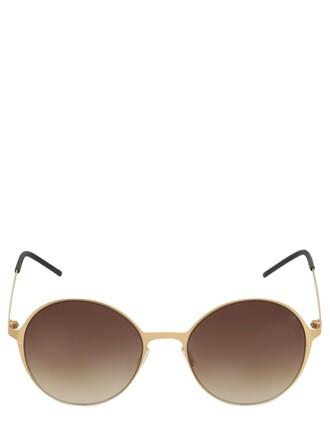 sunglasses gold satin