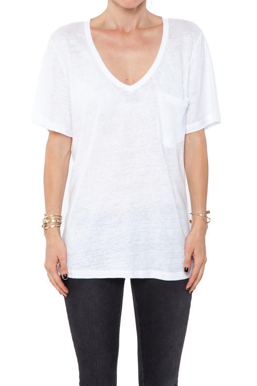 Vneck linen tshirt