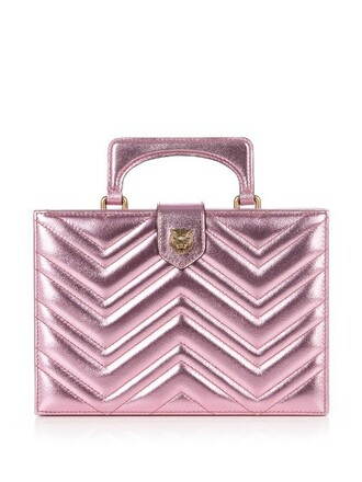 leather clutch metallic bag clutch leather light pink light pink