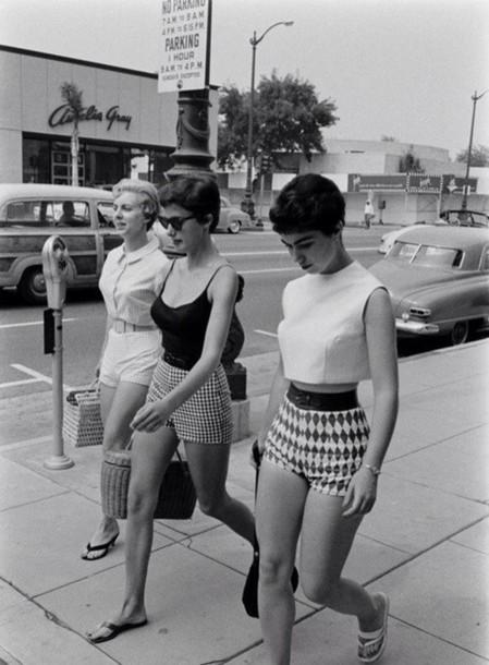 Shirt: shorts, fifties, old school, high waisted shorts ...