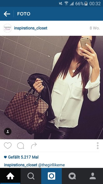 blouse white blouse classy black and white pockets trendy