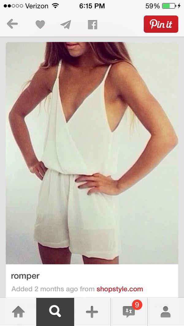 romper cute white dress white romper summer dress summer outfits
