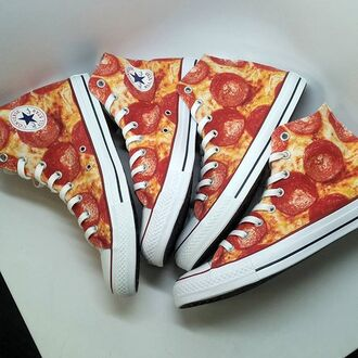 shoes converse high top converse pizza white converse high top sneakers
