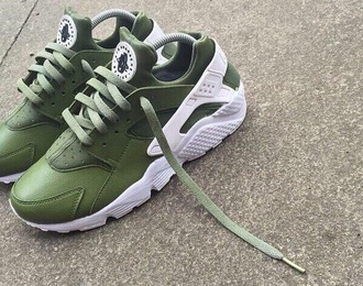 shoes kaki green huarache nike