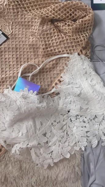 tank top white lace top