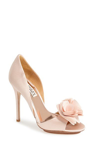 Badgley mischka 'blossom' open toe d'orsay pump (women)