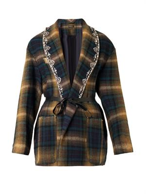 Lapels checked jacket