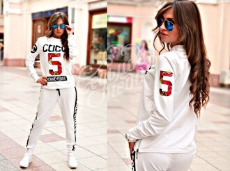 jumpsuit chanel floral tracksuit sportswear outfit outwear