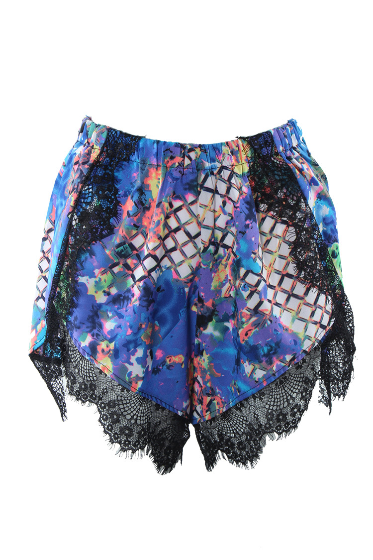 Free Shipping 2014  summer women's original single color stitching lace casual hot shorts FT054-in Shorts from Apparel & Accessories on Aliexpress.com
