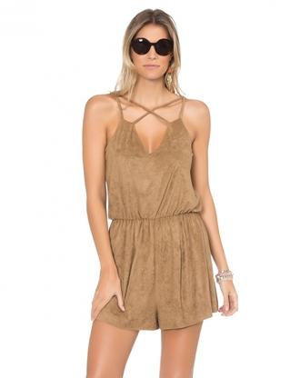 shorts amaro women casual clothes caramel r$ 129