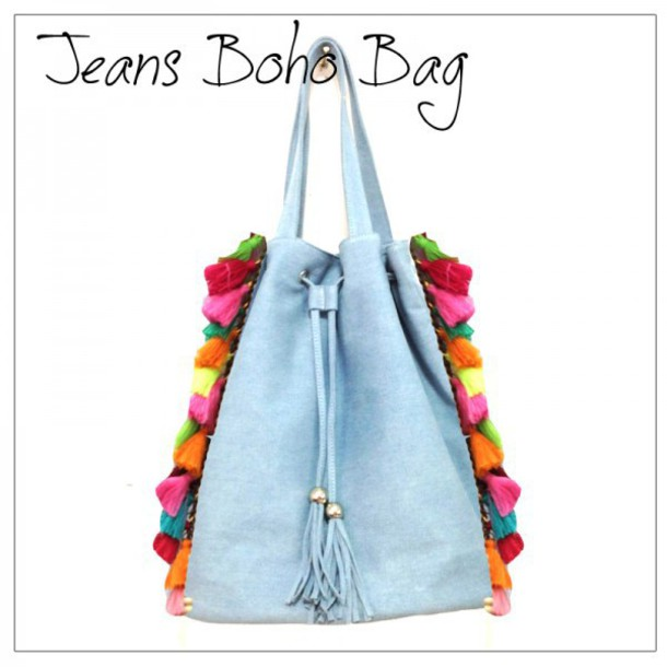 bag jeans summer beach ibiza style