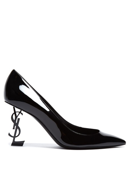Saint Laurent heel pumps leather black shoes