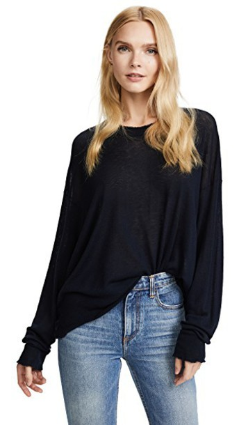T by Alexander Wang pullover long navy sweater