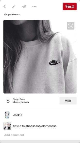 sweater nike nike crewneck white nike original crewneck sweatshirt