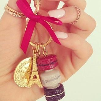 jewels jewel gold pink eifelturm anhänger paris eifel eiffel towers