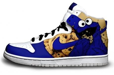 Cookie Monster Nike Dunks / Cookie Monster Sneakers - $67.00