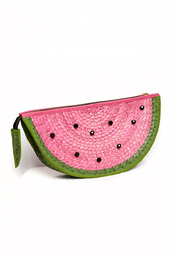 bag,watermelon print,clutch,chipchop,dirty dancing,handbag,fashion handbags,fashion handbag