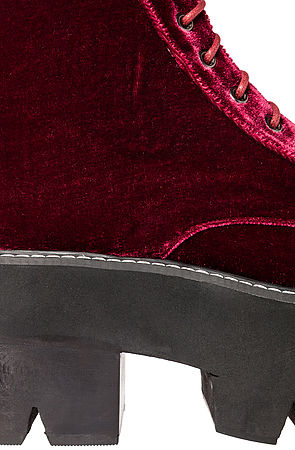 Jeffrey Campbell The Siglin Boot in Wine Velvet -  Karmaloop.com