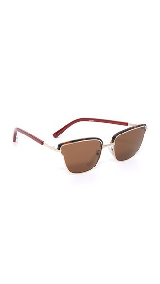 sunglasses gold brown