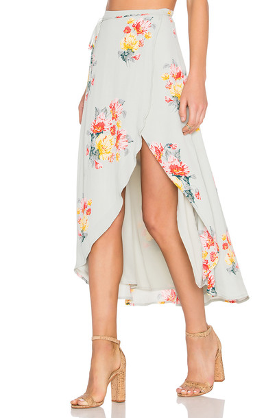 Privacy Please skirt wrap skirt mint